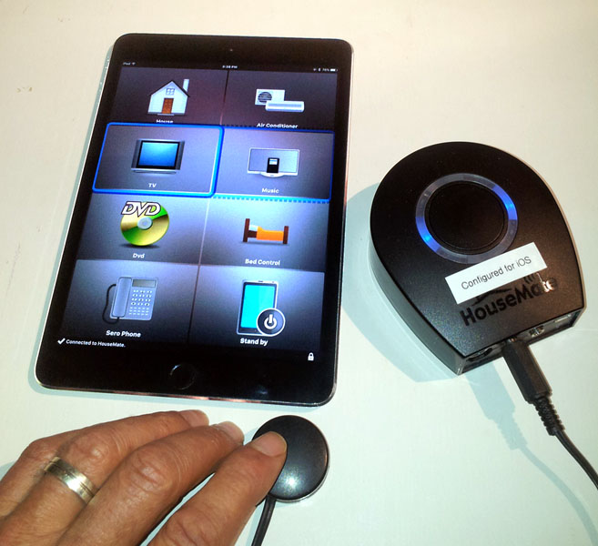 Smartphone Home Control housemate pro mk4 ios module. byo iphone from technical solutions
