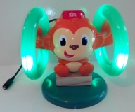 Monkey Lights & Music with rotating hoops