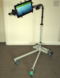 Boom Arm ECU Stand Trolley, Mobile Heavy Duty