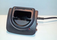 Pager transmitter charger cradle