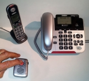 Uniden Corded+Cordless Phone with SOS Pendant