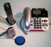 Uniden Corded+Cordless Phone with ADAPTED SOS Pendant