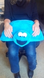 Weighted Cookie Monster Lap Bag 2kgs