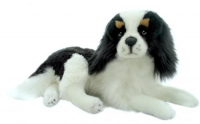 Weighted King Charles Plush White & Black