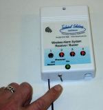 Wireless Alarm System Receiver/Buzzer,  Four Channel